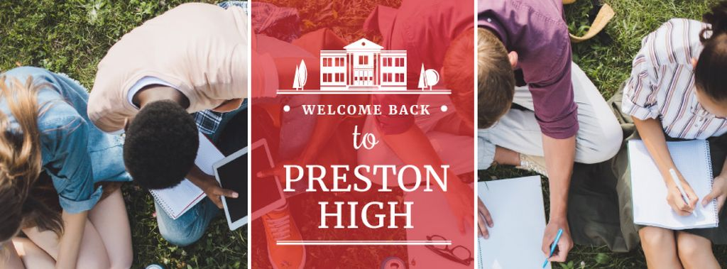 welcome back to Preston high poster — Створити дизайн