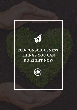 Ontwerpsjabloon van Poster van Eco-consciousness concept