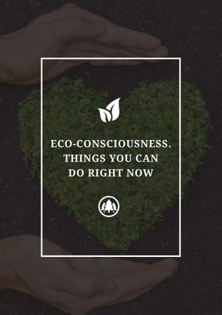 Plantilla de diseño de Eco-consciousness concept Poster