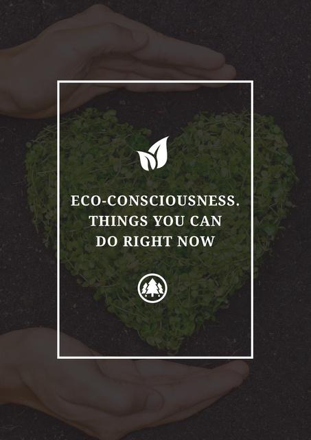 Eco-consciousness concept Poster Modelo de Design