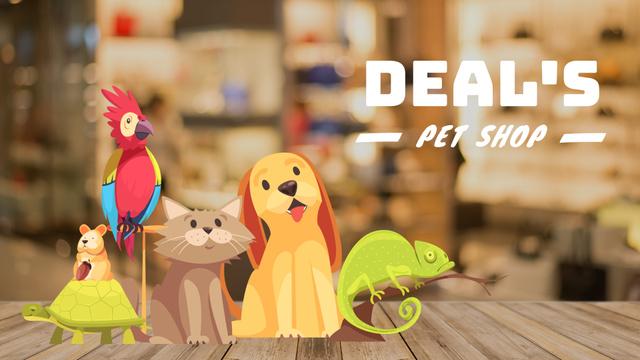 Pet Shop Deal Cute Pets Full HD video Modelo de Design
