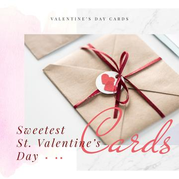 Envelope with hearts sign