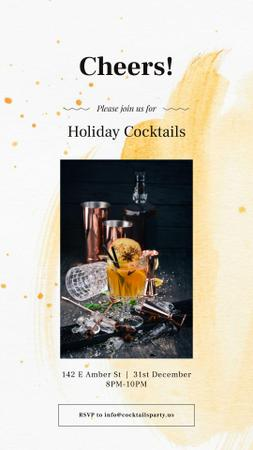 Holiday Cocktails with White mulled wine Instagram Story Modelo de Design