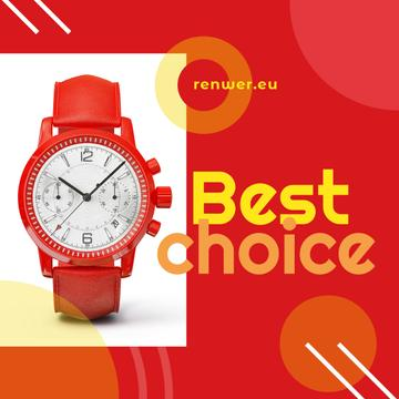 Modern Red Watch | Instagram Ad Template