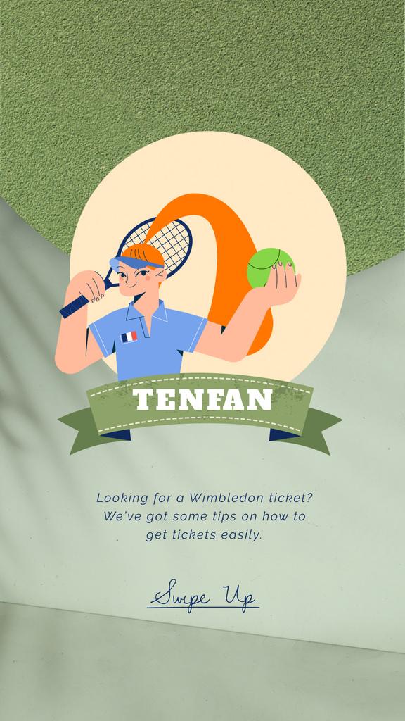 Wimbledon Tickets Offer Sportswoman | Vertical Video Template — Modelo de projeto