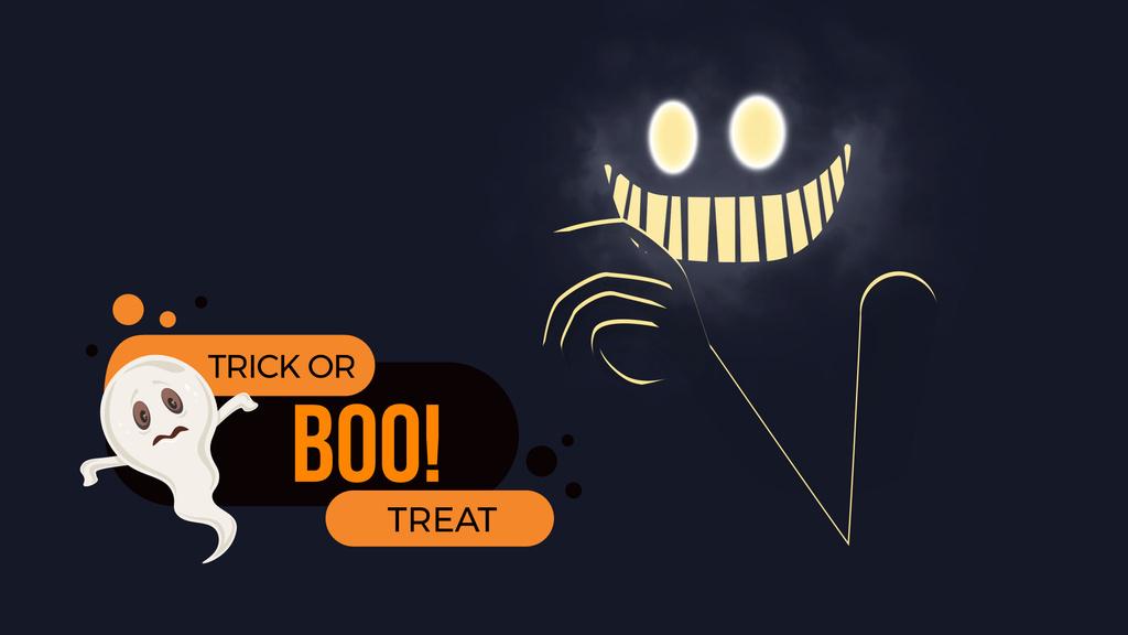 Scary glowing ghost — Створити дизайн
