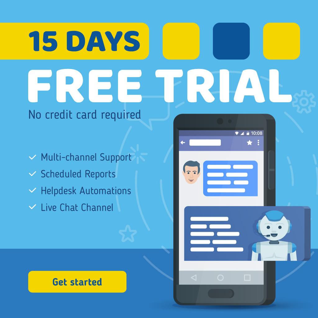 Online Customers Support Chat on Phone Screen — Modelo de projeto