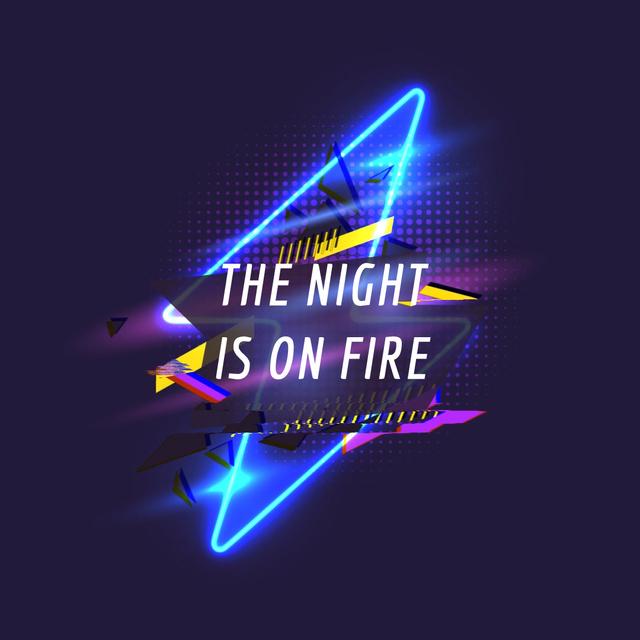 Flickering neon flash Animated Post – шаблон для дизайну
