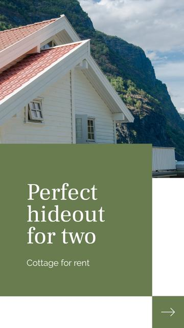 Plantilla de diseño de Rental Cottage overview Mobile Presentation