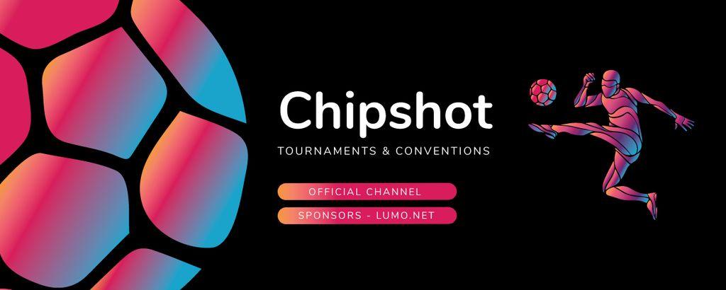 Template di design Illustration of Sportsman kicking Ball Twitch Profile Banner