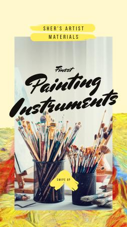 Modèle de visuel Art equipment for painting - Instagram Story