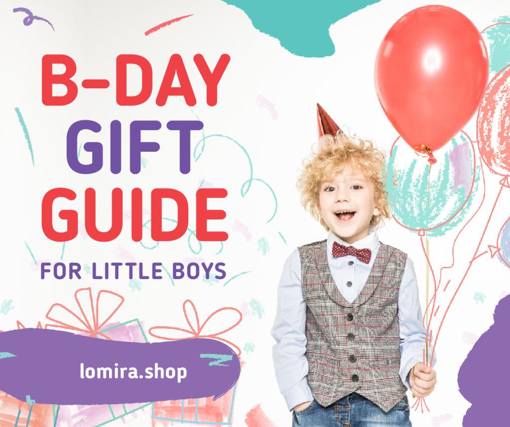 Birthday Cerebration Ideas Boy with Balloons — Maak een ontwerp