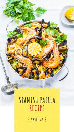 Spanish Paella dish Instagram Story Design Template