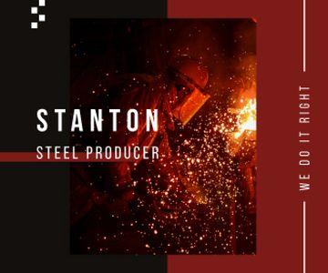 Steel Production Man Melting Metal