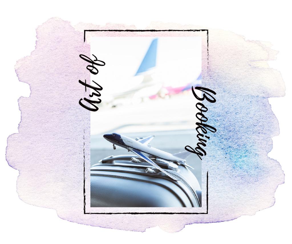 Toy plane on suitcase — Modelo de projeto