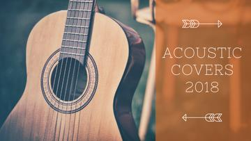 Acoustic Music Ad Wooden Guitar