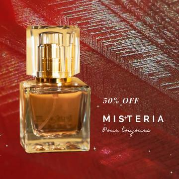 Perfume Offer with Glass Bottle in Red