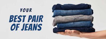Fashion Sale Blue Jeans Pile