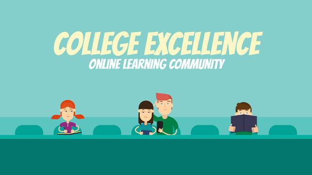Online Education Concept Students Learning in Class Full HD video Modelo de Design