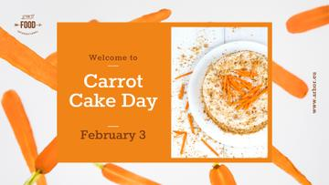 Carrot Cake Day Celebration | Facebook Event Cover Template