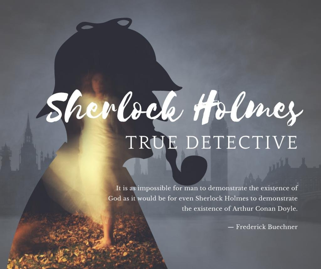 Sherlock Holmes quote on London view — Create a Design