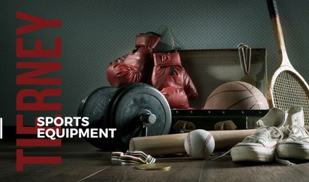 Modèle de visuel Sports equipment Sale Offer - Business card