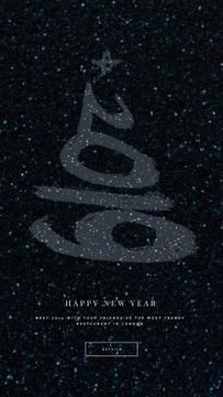 New Year Shining Glitter Greeting