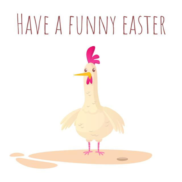 Plantilla de diseño de Chicken laying Easter egg Animated Post