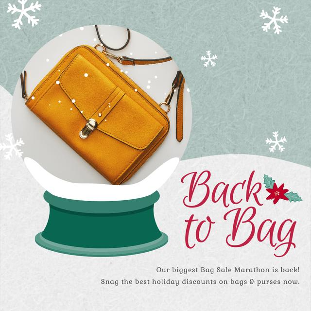 Template di design Holidays Discount wih Stylish Purse in Yellow Animated Post