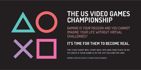 Template di design Video games Championship Twitter