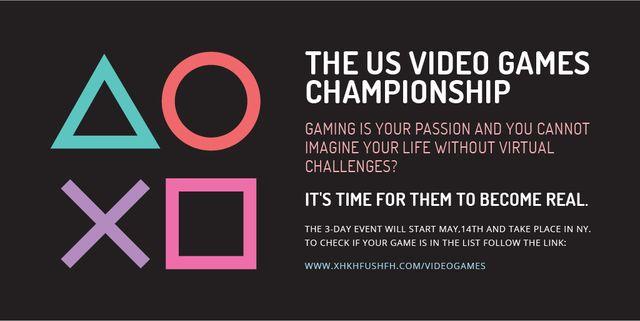 Designvorlage Video games Championship für Twitter