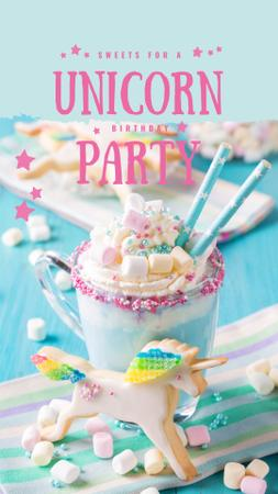Sweet monster shake for party Instagram Story Modelo de Design