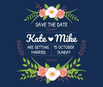 Save the Date Invitation with Floral Frame