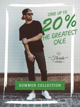 Fashion sale ad with Young Man