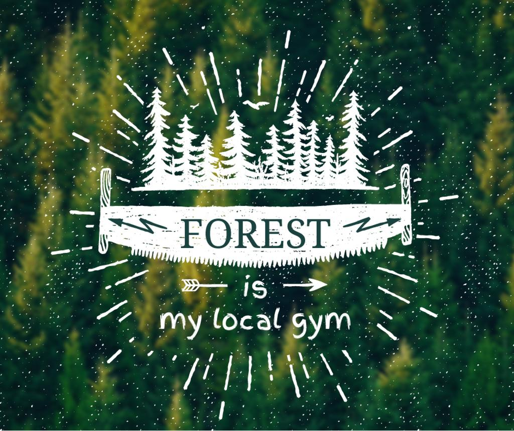 Forest Quote Scenic Green Nature View — Create a Design