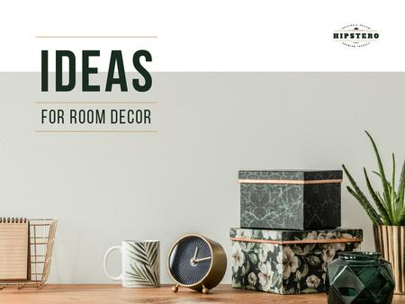 Ideas for room decor Presentation Modelo de Design