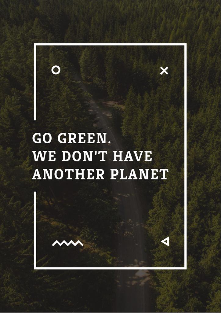 Citation about green Planet — Crear un diseño