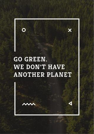 Modèle de visuel Citation about green Planet - Poster