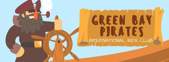 Plantilla de diseño de Pirate rotating steering wheel Facebook Video cover
