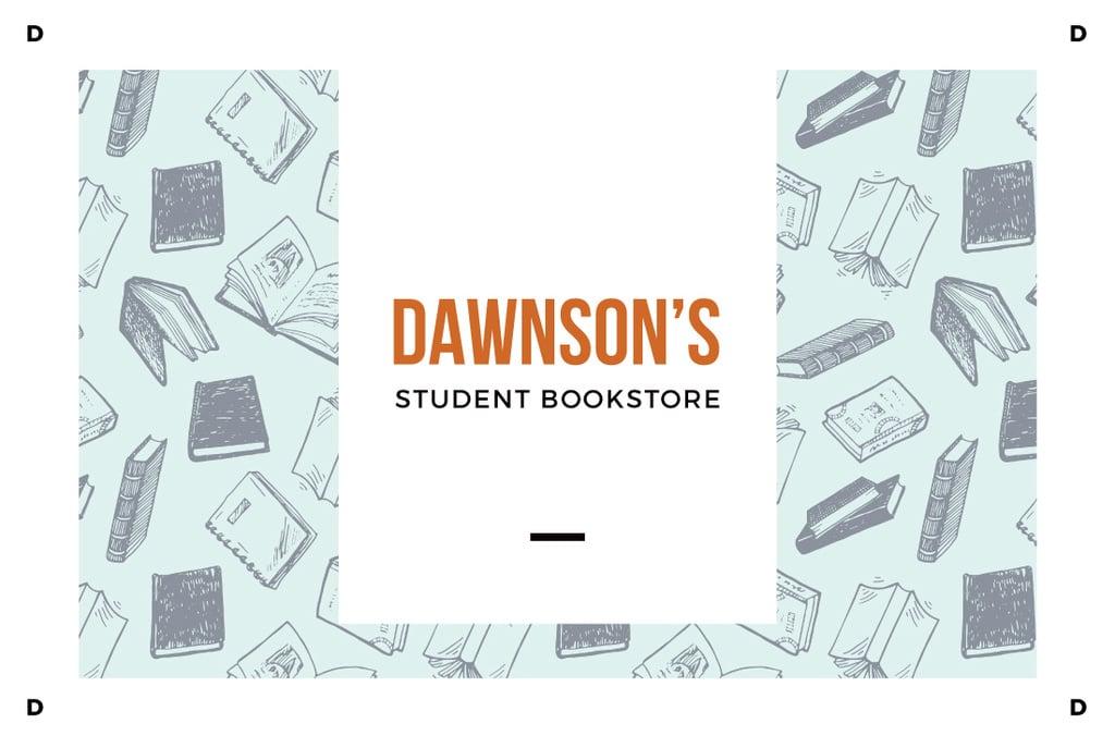 Dawnson's student bookstore illustration — Crear un diseño