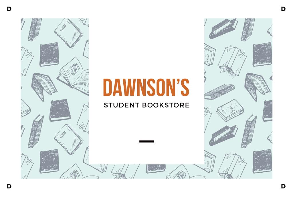 Dawnson's student bookstore illustration — Создать дизайн