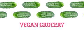 Raw green cucumbers in rows