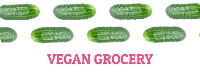 Plantilla de diseño de Raw green cucumbers in rows Facebook Video cover