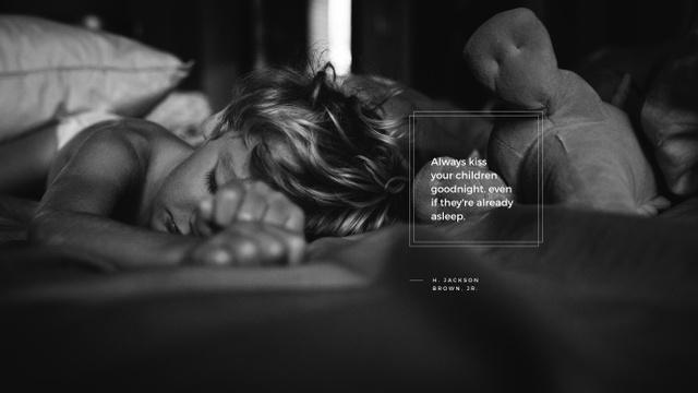 Plantilla de diseño de Cute little child sleeping Youtube