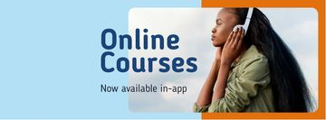Online Courses Ad Woman Listening Music
