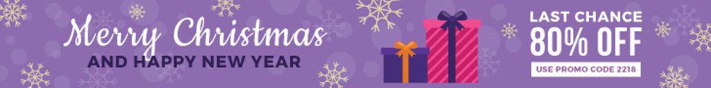 Christmas Sale Gift Boxes in Purple — Créer un visuel