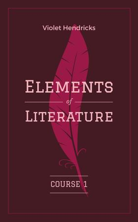 Literature Inspiration Pink Quill Pen Book Cover Modelo de Design