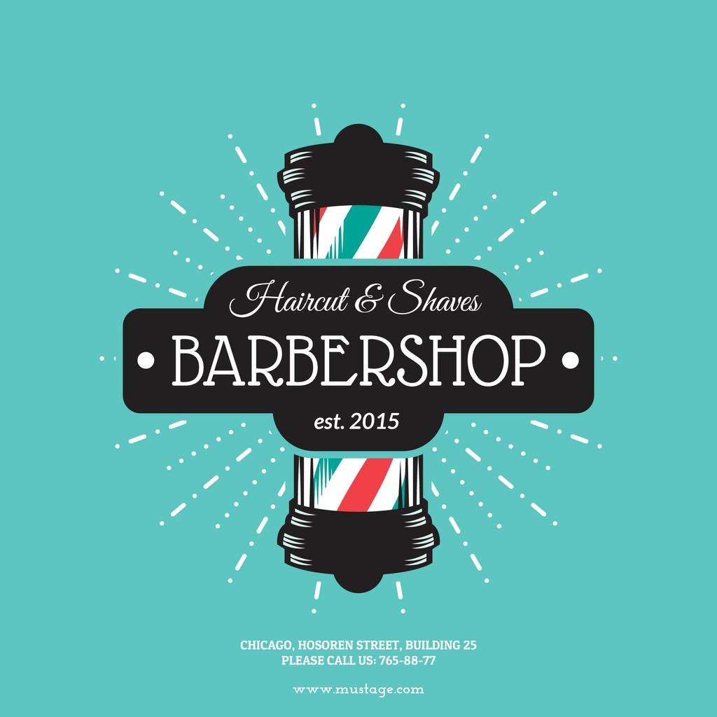 Barbershop Ad with Striped Lamp —デザインを作成する