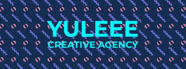 Ontwerpsjabloon van Facebook Video cover van Creative Agency Ad Flashing moving elements