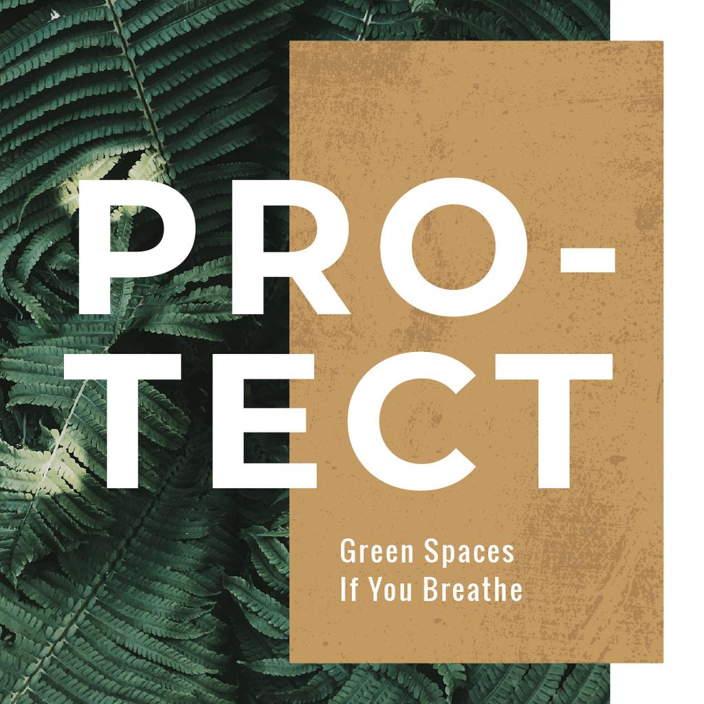 Green fern leaves  — Crea un design